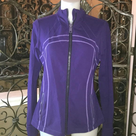 Lululemon Purple Zipper Jacket